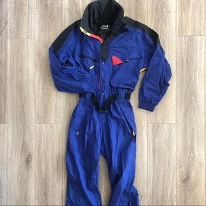 Vtg 90s Helly Hansen Ski Suit One Piece Snow Bib